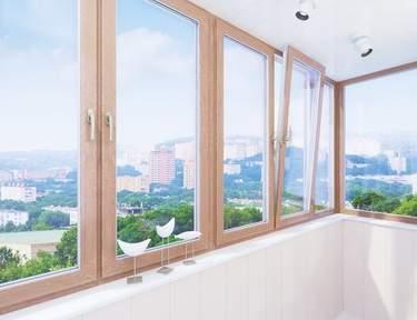 Теплое остекление балкона пластиковым профилем размер 3000 н.