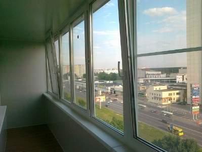 Теплое остекление балкона системой slidors в сходне все цены.